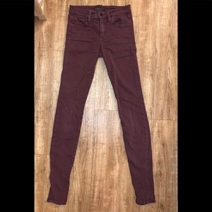 Joe's Jeans red skinny mid-rise size W26
